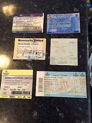 6 X Manchester United Away Tickets - At Newcastle, Sunderland, Middlesbrough