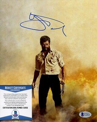 Hugh Jackman signed autographed Logan 8x10 Photo Beckett BAS