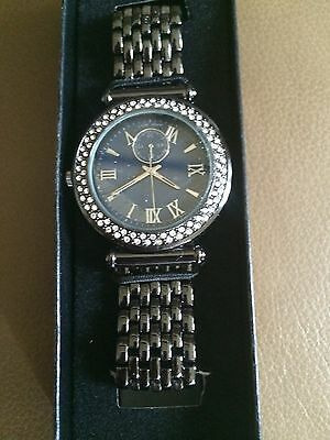 Avon Metallic Watch Quartz Reg 35.00 New in Box New Just in Awesome.