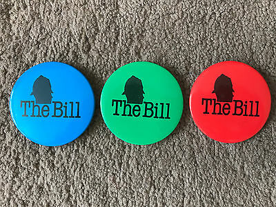 The Bill - Original Promotional 2 inch Badge - 3 Different Colours Available