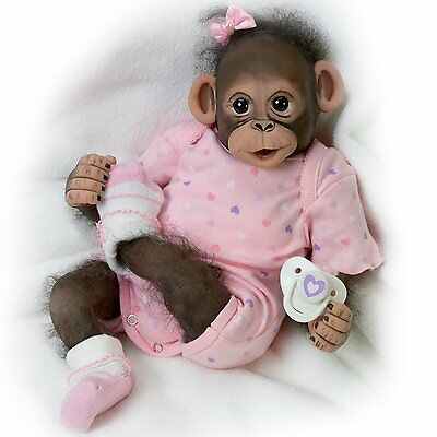 Ashton Drake - Baby Zoey So Truly Real Baby Monkey Doll by Cindy Sales