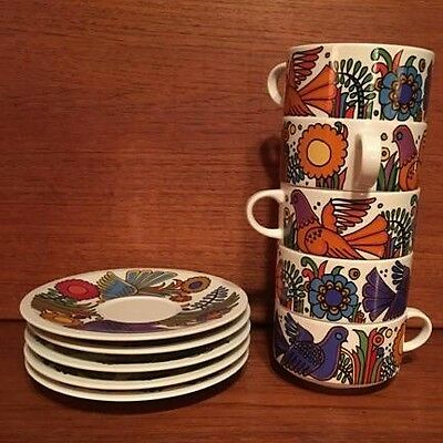 Villeroy and Boch Acapulco cups and saucers MINT UNUSED