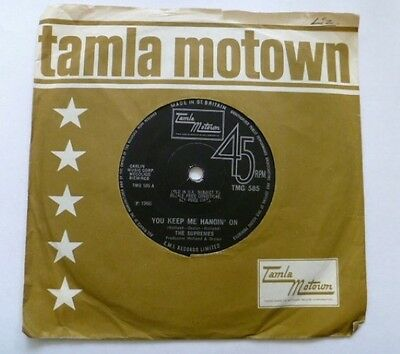"TAMLA MOTOWN The SUPREMES - YOU KEEP ME HANGIN ON ORIGINAL 7"" TMG 585 1966"