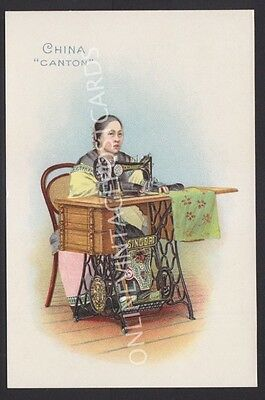 China Canton Lady Advertising For Singer Sewing Machines Super Colours