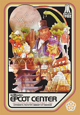 Disney D23 Expo 2017 Epcot 35 Years Anniversary Figment Horizons Tubed Poster