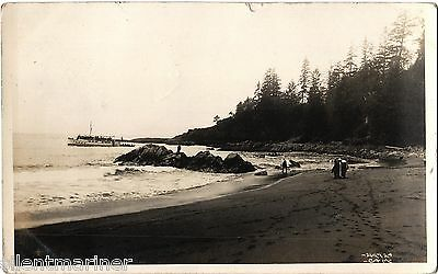 Clo-oose, Vancouver Island, B.C., old b+w RP postcard, posted 1913