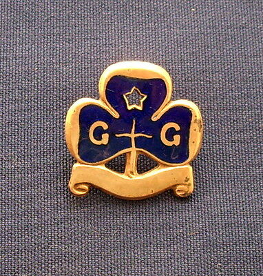 Vintage Girl Guide Sea Rangers Enamel Trefoil Promise Badge C1920 Era