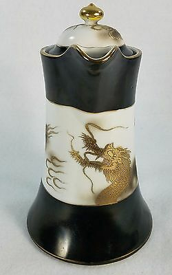 Vintage Nippon Chocolate Coffee Pot Pitcher With Gold Moriage Dragon