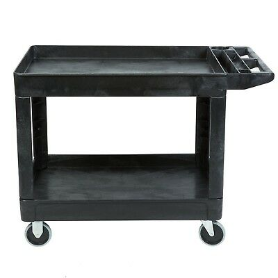 Rubbermaid Commercial Products Heavy-Duty Utility Cart, Flat Handle, 2 Lipped...