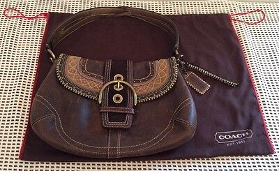 COACH Authentic HOBO LEATHER LIMITED EDITION Flap Studded Purse    H0669-10479 ebc31c2ce6523
