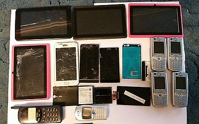 Joblot Sony Xperia Android Phones Tablets Housings Batteries Lcd