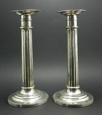 """Pair of Vintage R. Wallace & Sons Weighted Sterling Silver 9"""" Candlesticks #765"""