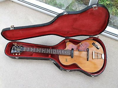 Hofner Guitar:Club 40:Vintage 1960:Archtop:Electro-acoustic:Road worn.Sold