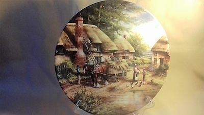 wedgwood plate mending the thatch country days chris howells