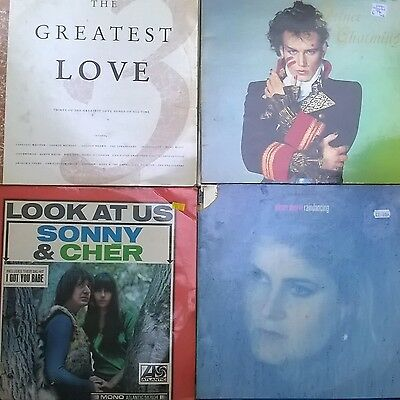 old vinyl records 17 of them mixed music