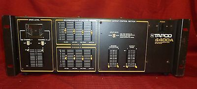 Vintage Tapco 4400A 2 Channel Rackmount Reverberation w Reverb EQ System