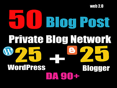 50 Blog POSTs Blogger and WordPress From My Authority Blogs