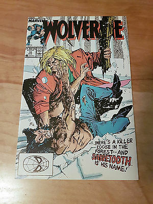 Wolverine #10, First Ongoing Series Chris Claremont, 1st Battle VS Sabretooth NM