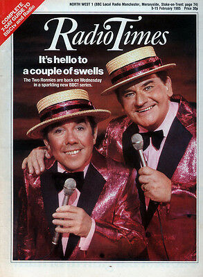 Radio Times 9 Feb 1985 . The Two Ronnies Front Cover . Doctor Who . Zx Spectrum+