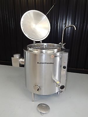 Groen 40 Gallon Steam Stationary Kettle Natural Gas Gal 30 60 80