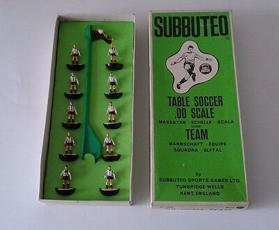 Subbuteo Newcastle two players been glued