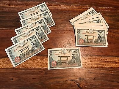 T2: Japan 50 Sen Banknote: 1942-1944. Uncirculated P59 ONE Note for 9.90