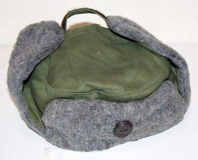 Soviet Russian Army Fur Winter Hat Grey Size 56