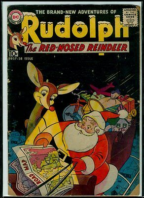 DC Comics RUDOLPH The Red-Nosed Reindeer 1957-58 GD 2.0