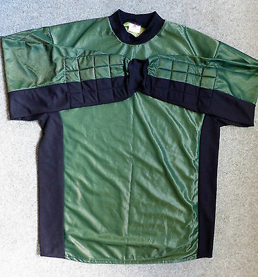 Goal Keeper Shirt, size 44, green / black with padded elbows, NEW