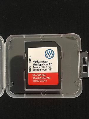Vw Volkswagen Rns 315 Navigation Sd Card 2017-2018 V9 Map Update