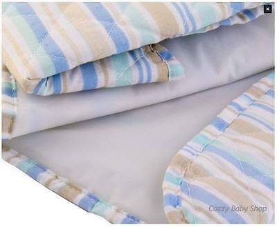 Change Mat Pack of 2 Striped Blue Cotton Blend Baby Girls Boys Stripes New