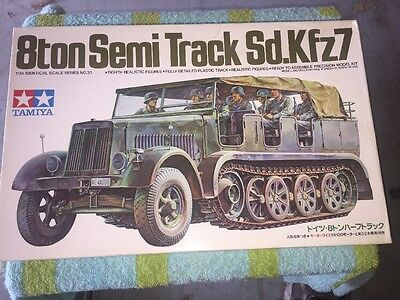 Tamiya Model Kit No. 3033 1/35 Scale 8ton Semi Track Sd.Kfz7 Motorized