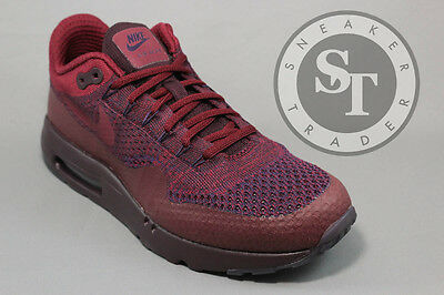 best loved d7182 b588d Nike Air Max 1 One Ultra Flyknit 856958-566 Grand Purple Team Red Size