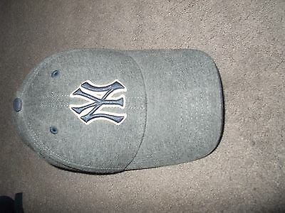 MENS GREY Basic NY New York Yankees Adjustable Baseball Cap L@@K