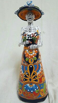 """TALAVERA ceramic from the day of the dead Collection  """"CATRINA  LORENA"""""""