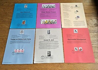 1996 Complete Year Set of 41 USPS Souvenir Pages with First Day Cancellations
