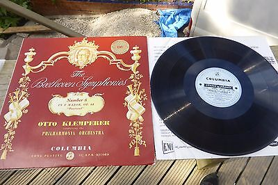 Beethoven Symphony NO.6 Klemperer Columbia B/S ED1 Stereo SAX 2260 UK LP