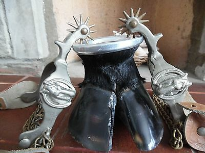 Genuine American Cowboy Spurs With Leather Straps