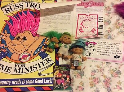vintage troll doll lot of collectors items dolls numbered with certificate
