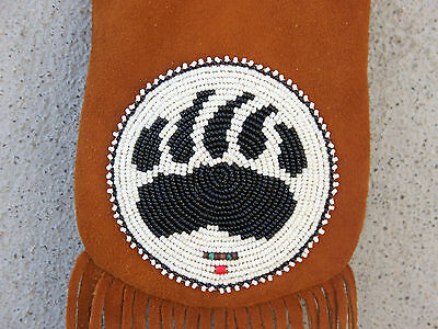 Traditional Hand Beaded Medicine Bag-Silver Concho-Heishi-Rendezvous Pouch