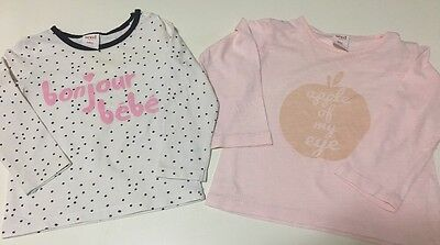 Two Seed Long Sleeve Tops - Size 12 Months