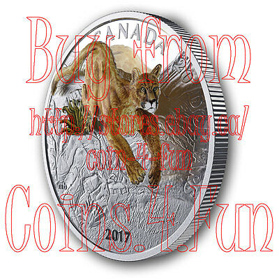 2017 - Canada - Leaping Cougar - $20 1 oz Pure Silver Three-Dimensional Coin #2