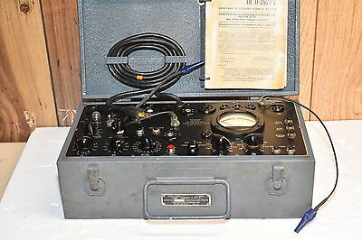 Signal Corp Munston Mfg US Army Military Grade Tube Tester I-177-A