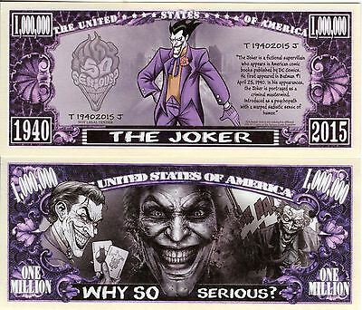 The Joker - DC Comics Character Million Dollar Novelty Money