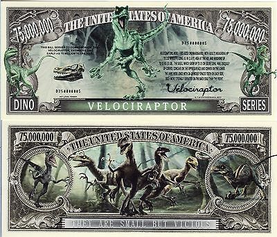Velociraptor Dino Series Million Dollar Novelty Money