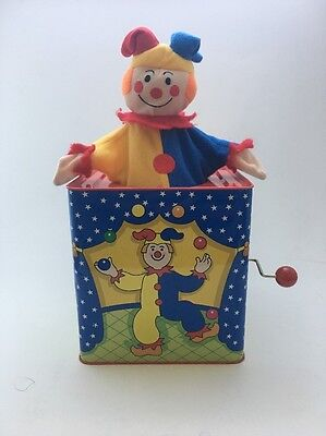 """""""Jack-In-A-Box"""" Classic Pop-Up Music Toy """"Pop Goes The Weasel"""" Melody Used Good"""