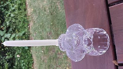 Mikasa crystal carol angel candle holder  MADE IN Austria CHRISTMAS