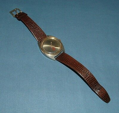 Coca Cola Floating Bottle Second Hand Wrist Watch - 1980's - Used Condition