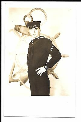 Real Photo Postcard - Sailor in Uniform, Possibly WWII