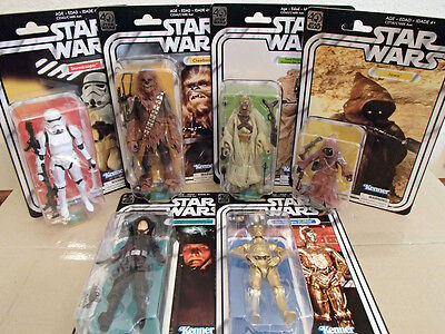 STAR WARS The Black Series 40th Anniversary - WAVE 2 FULL SET (6) - NEW & SEALED
